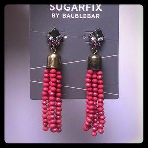 Sugarfix by baublebar Pink Beaded Tassel earrings